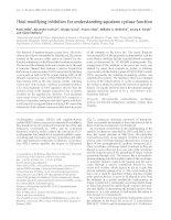 Báo cáo Y học: Thiol-modifying inhibitors for understanding squalene cyclase function pdf