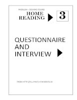HOME READING 3 QUESTIONNAIRE AND INTERVIEW ppt