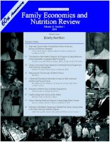 FAMILY ECONOMICS AND NUTRITION REVIEW pdf