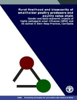 Rural livelihood and biosecurity of smallholder poultry producers and poultry value chain pdf
