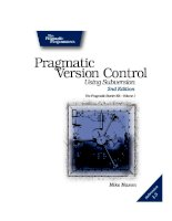 Pragmatic Version Control using Subversion pot