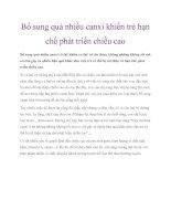 Bổ sung quá nhiều canxi khiến trẻ hạn chế phát triển chiều cao pdf