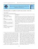 TÍNH KHOA HỌC VÀ NGHIÊN CỨU KHOA HỌC XÃ HỘI - NHÂN VĂN pdf