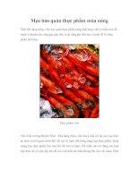 Mẹo bảo quản thực phẩm mùa nóng pdf