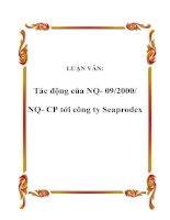 LUẬN VĂN: Tác động của NQ- 09/2000/ NQ- CP tới công ty Seaprodex doc