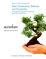 Accenture Sales Transformation Sales Competency, Behavior and Personality doc