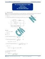 Bài giảng vẽ lại mạch điện XC và viết phương trình U, I.