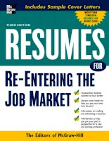 RESUMES FOR Re-Entering the Job Market pot
