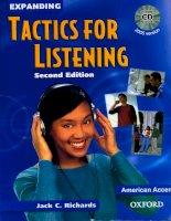 expanding tactics for listening giáo trình luyện nghe tiếng anh nâng cao