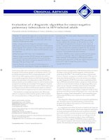 Evaluation of a diagnostic algorithm for smear-negative pulmonary tuberculosis in HIV-infected adults doc