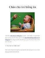 Cháo dinh dưỡng cho trẻ biếng ăn pot