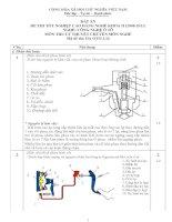 đáp án đề thi lý thuyết khóa 2 - công nghệ ôtô - mã đề thi oto - lt (14)