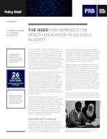 THE NEED FOR REPRODUCTIVE HEALTH EDUCATION IN SCHOOLS IN EGYPT doc
