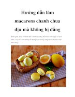 Hướng dẫn làm macarons chanh chua dịu mà không bị đắng docx