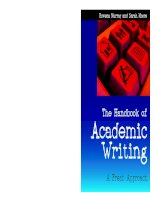 The Handbook of Academic Writing A Fresh Approach pdf