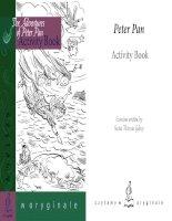 Peter pan activity book