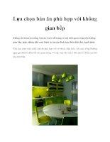 Lựa chọn bàn ăn phù hợp với không gian bếp pptx