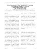 Error Analysis of the Written English Essays of Pakistani Undergraduate Students: A Case Study docx