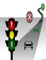 hình vẽ powerpoint đèn giao thông, traffic lights