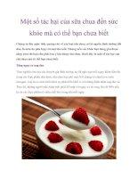 Một số tác hại của sữa chua đến sức khỏe mà có thể bạn chưa biết docx