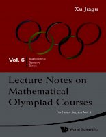 Toán học quốc tế olympiad vol6 lecture notes on mathematical olympiad courses for junior section vol 1