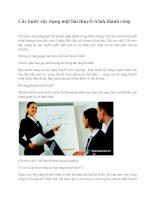 Các bước xây dựng một bài thuyết trình thành công docx