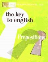Key to English prepositions doc