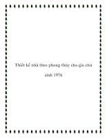 Thiết kế nhà theo phong thủy cho gia chủ sinh 1976 pdf
