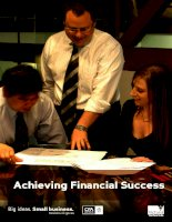 Achieving Financial Success: Big ideas. Small business doc
