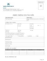 mẫu đơn thông tin ứng viên ngân hàng nam á