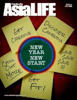 Tạp chí Cabodia ASIA LIFE tháng 01/2014