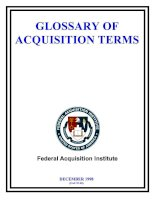 GLOSSARY OF ACQUISITION TERMS 1998 potx