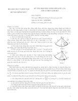 BỘ GIÁO DỤC VÀ ĐÀO TẠO ĐỀ THI CHÍNH THỨC KỲ THI CHỌN HỌC SINH GIỎI QUỐC GIA LỚP 12 THPT NĂM 2011 Môn: VẬT LÍ potx