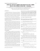 KHẢO SÁT SƠ BỘ VÀ NGHIÊN CỨU NÂNG CAO CHẤT LƯỢNG KHÔ CÁ TRA PHỒNG Ở CHÂU ĐỐC - AN GIANG docx