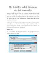 Thủ thuật kiểm tra link thật của các shortlink nhanh chóngHiện có rất nhiều pdf
