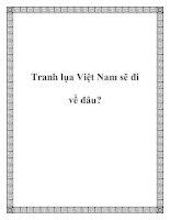 Tranh lụa Việt Nam sẽ đi về đâu? docx