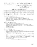 BỘ GIÁO DỤC VÀ ĐÀO TẠO KỲ THI CHỌN HỌC SINH GIỎI QUỐC GIA LỚP 12 THPT NĂM 2011 HƯỚNG DẪN CHẤM ĐỀ THI CHÍNH THỨC Môn: TIN HỌC pot
