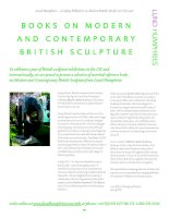 BOOKS ON MODERN AND CONTEMPORARY BRITISH SCULPTURE doc