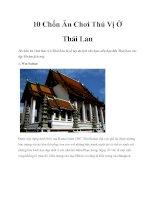 10 Chốn Ăn Chơi Thú Vị Ở Thái Lan docx