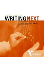 A Report to Carnegie Corporation of New York WRITINGNEXT EFFECTIVE STRATEGIES TO IMPROVE WRITING OF ADOLESCENTS IN MIDDLE AND HIGH SCHOOLS potx