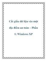 Cất giấu dữ liệu vào một địa điểm an toàn – Phần 1: Windows XP pot