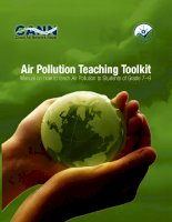 Air Pollution Teaching Toolkit Manual on how to teach Air Pollution to Students of Grade 7–9 ppt