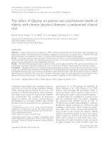The effect of Qigong on general and psychosocial health of elderly with chronic physical illnesses: a randomized clinical trial doc