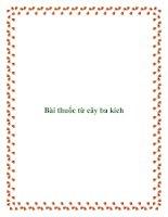 Bài thuốc từ cây ba kích pdf
