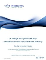 UK design as a global industry: International trade and intellectual property docx