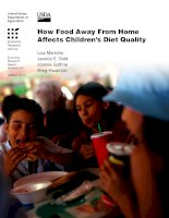How Food Away From Home Affects Childrenzs Diet Quality potx