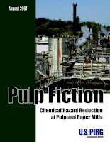 PULP FICTION - Chemical Hazard Reduction at Pulp and Paper Mills docx