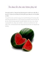Ăn dưa tốt cho sức khỏe phụ nữ pdf