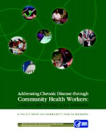 Addressing Chronic Disease through Community Health Workers: A POLICY AND SYSTEMS-LEVEL APPROACH doc