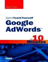 Sams Teach Yourself Google AdWords in 10 Minutes pdf